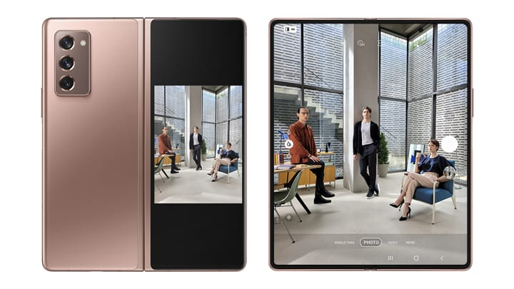 Samsung Zfold 2 dual view