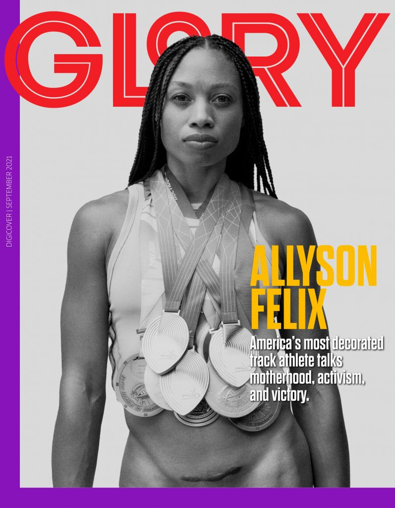 Allyson Felix on the cover of GLORY magazine